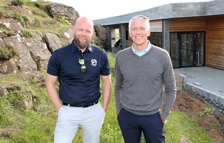 Gunnar Ingi Björnsson framkvæmdastjóri GM og Kári Tryggvason formaður.