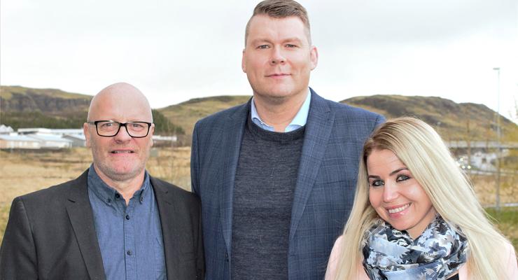 þrjú efstu á lista framsóknar- flokksins í mosfellsbæ: Sveinbjörn Ottesen, Birkir Már og Þorbjörg.