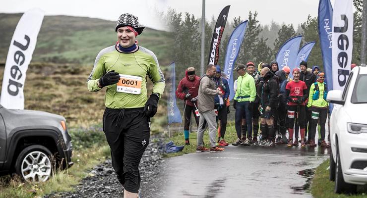 Guðni forseti á hlaupum um Mosfellsbæ árið 2017.