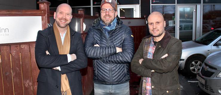 Mættir í Mosó: Jói Ásbjörns, Karl Viggó og Jón Gunnar.
