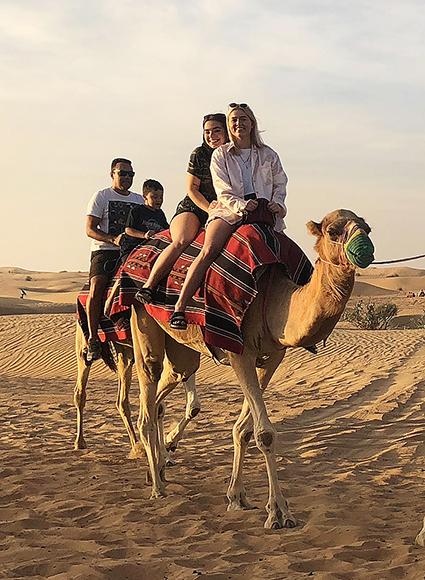 Dagur í eyðimörkinni í Dubai.